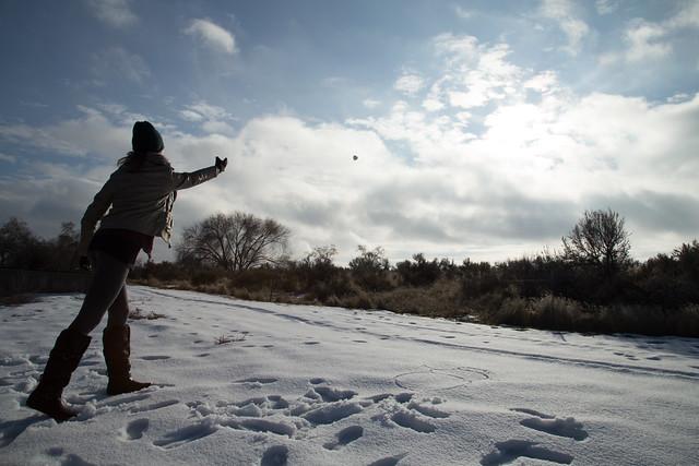 Throwing Snowballs in Idaho