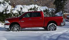 toyota tundra(0.0), automobile(1.0), automotive exterior(1.0), pickup truck(1.0), wheel(1.0), vehicle(1.0), truck(1.0), off-roading(1.0), ram(1.0), bumper(1.0), land vehicle(1.0),