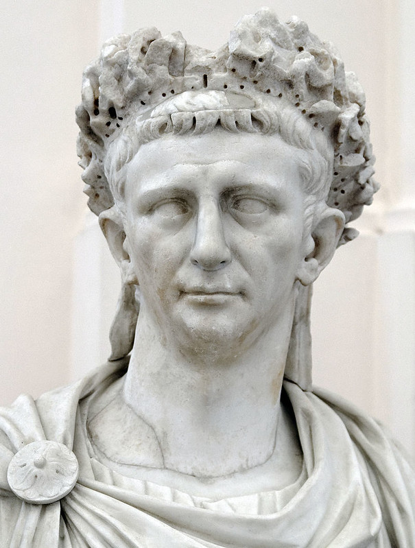 Bust of Emperor Claudius at Naples National Archaeological Museum