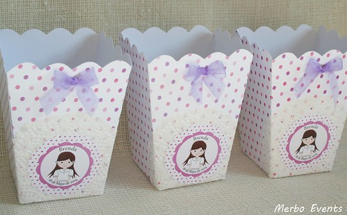 cajas palomitas o dulces  para comuniones
