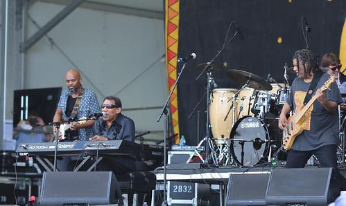 Henry Butler  at Jazz Fest 2016.  Photo by Bill Sasser.