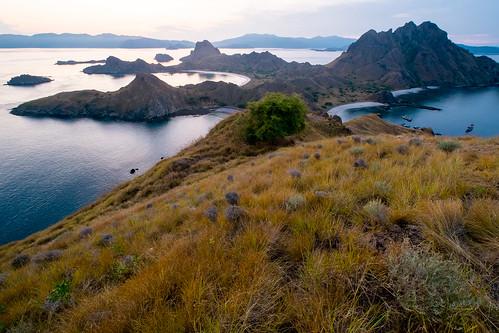 sunset flores indonesia landscape island komodo padar