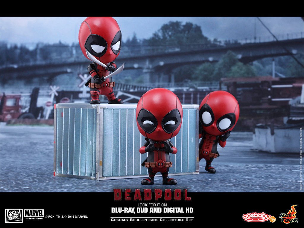 Hot Toys – COSB220, 221, 246 –【死侍豪華組合包】惡棍英雄:死侍 Deadpool Cosbaby