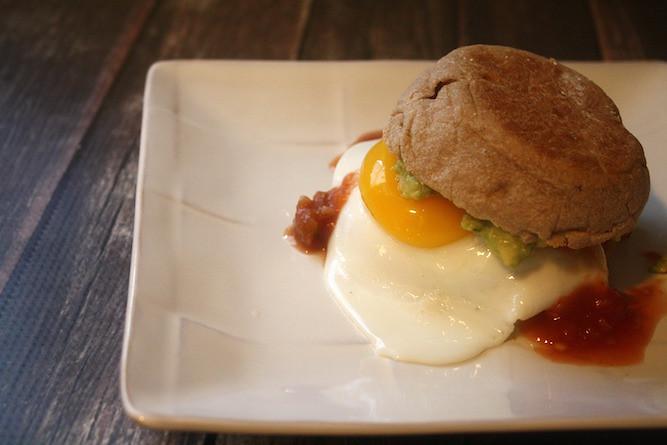Huevos Rancheros Style Breakfast Sandwich