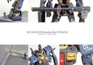 【玩具人'Kw Wang'投稿】 《RG 1:144 Gundam RX-178 TITANS MKII 黑馬克 》