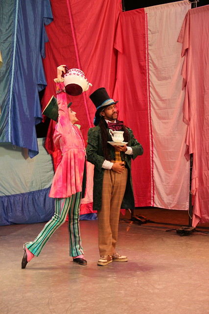 Steven McRae and Turbo during filming for the Mad Hatter Dance Off © ROH 2014