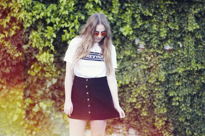 Coop by Trelise Cooper Tshirt Ray-ban round sunglasses Minkpink skirt