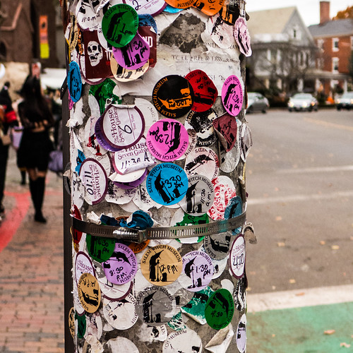 Stickers on a Pole
