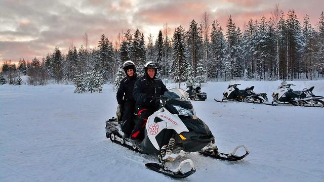 Snowmobiling in Rovaniemi, Lapland