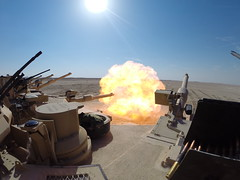 M1A2 Abrams Muzzle Blast