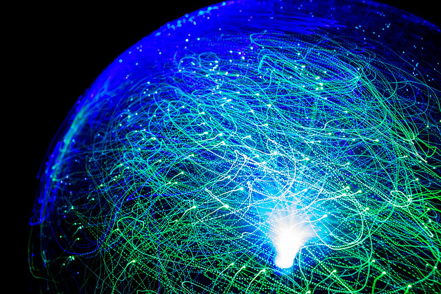 Fiber optical lamp globe