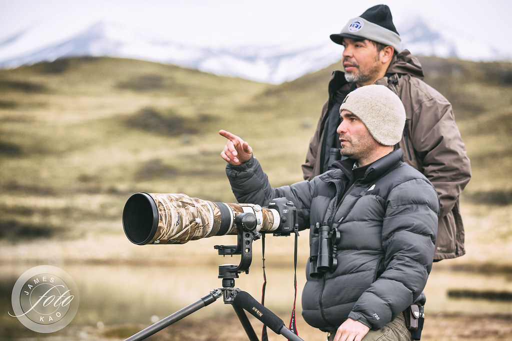 Our guide Diego Araya in Puma tracking, Torres del Paine NP - Photos by James Kao