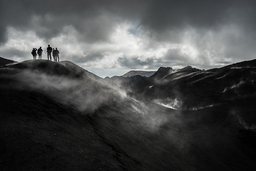 people terrain cloud mountain storm fog landscape volcano lava moody desert smoke extreme peak landmark tourist smoking climbing sulphur thunderstorm wilderness heavy volcanic range a7 sonycamera active kamchatka clinker fumarole platinumheartaward sonya7 greaterphotographers tolbachik ilce7 sel2870 fe2870mmf3556oss