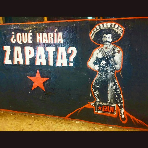 Just finished!!! What would Zapata do? Street Art Installation on La Cienega and Jefferson in Los Angeles.  Justice and equality will prevail. People take the power back!     #StreetArtLA #StreetArt #VivaChe #vivacheman #emilianozapata #EZLN #Zapata #zapa