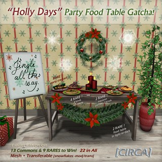 [CIRCA] Holly Days Party Food Table Gatcha! - 30L per play