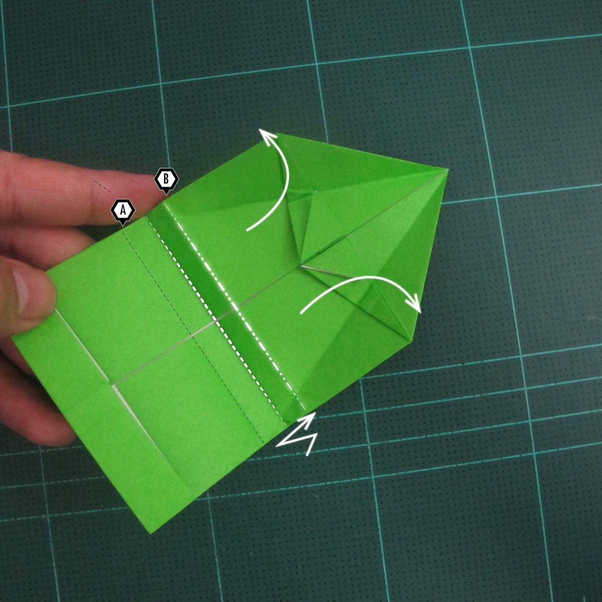 การพับกระดาษเป็นรูปแรด (Origami Rhino) 015