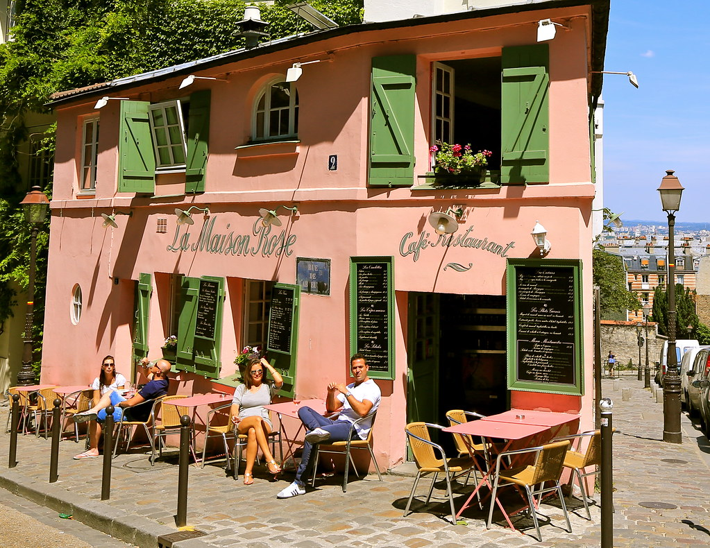 La Maison Rose Cafe Restaurant Montmartre Paris France Flickr