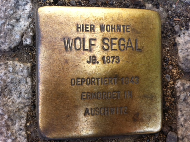 Photo of Wolf Segal brass plaque