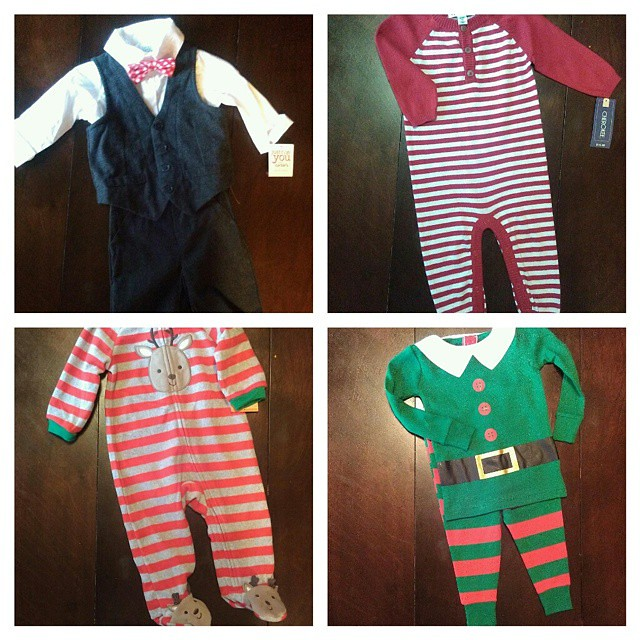 Darn you, Target. At least Liam's Christmas outfit and pjs are bought.