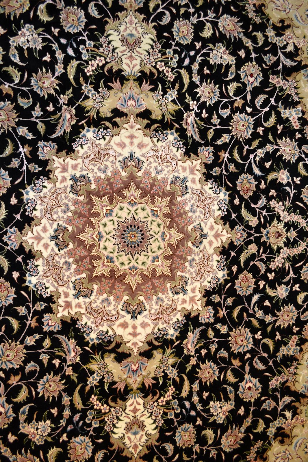 Taghizadeh black Persian Rug 7x10 Tabriz (2)