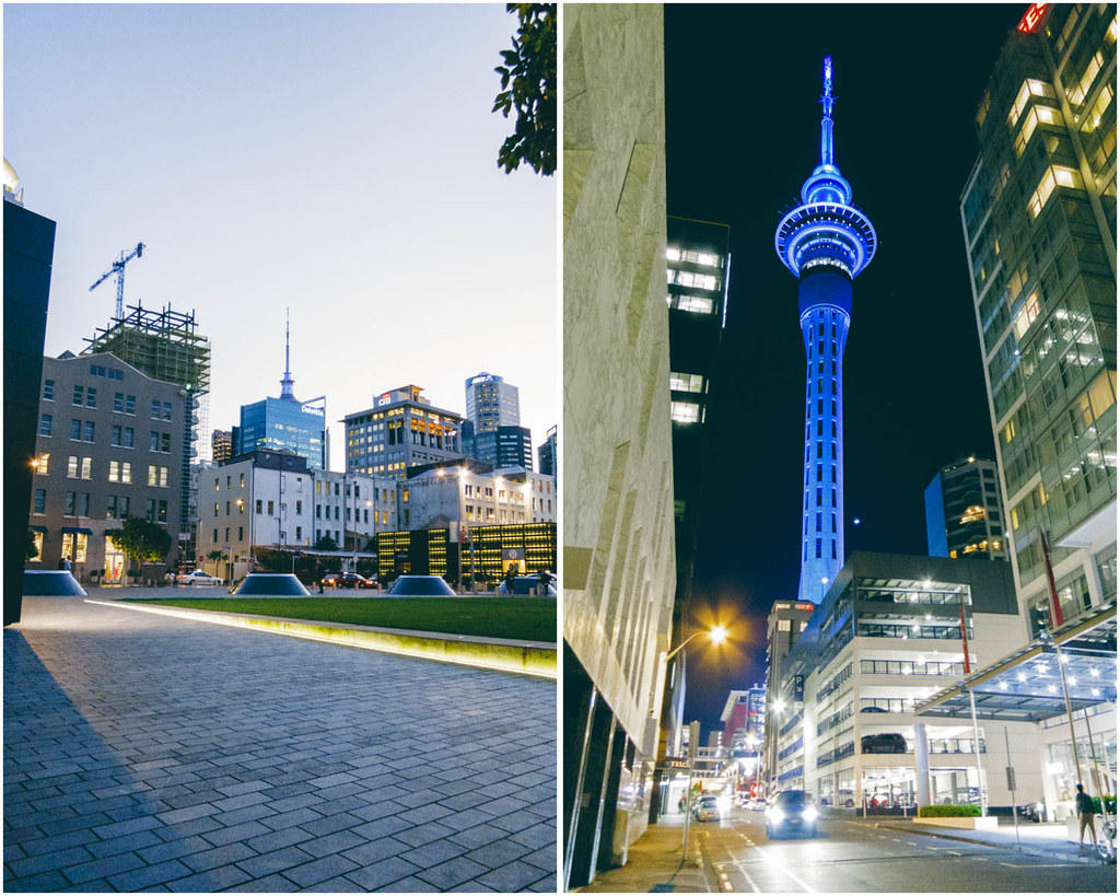 Britomart and Sky Tower Auckland