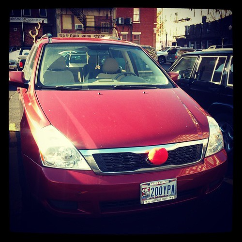 The second reindeer car I've seen so far this holiday season...