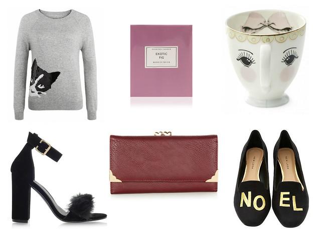 christmas wishlist oliver bonas new look accessorize la moda