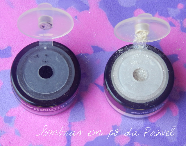 Swatches: Sombras em pó panvel Make Up