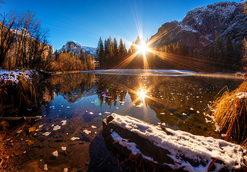 Half Dome Winter Sunrise Yosemite National Park