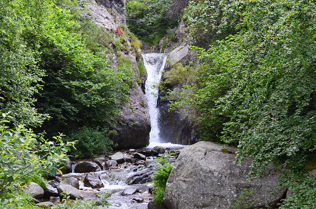 Champagne flute waterfall, Setcases, the Pyrenees