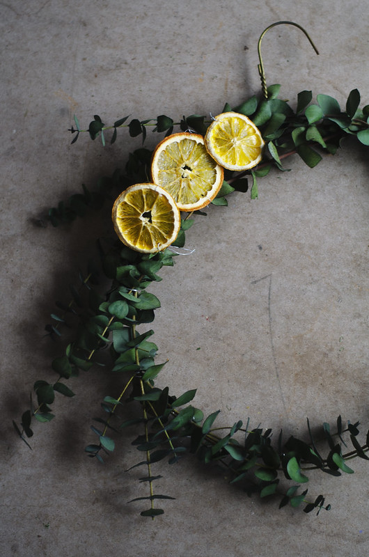 Dried Orange and Eucalyptus Wreaths on juliettelaura.blogspot.com