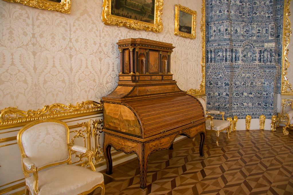 Rooms in Catherine Palace in St. Petersburg, Russia