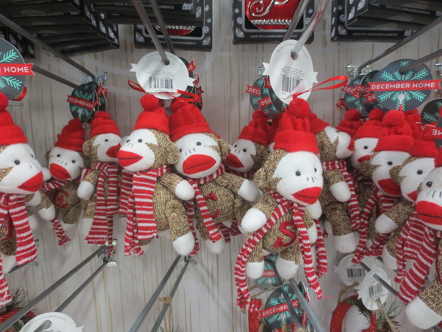 Monogrammed sock monkeys