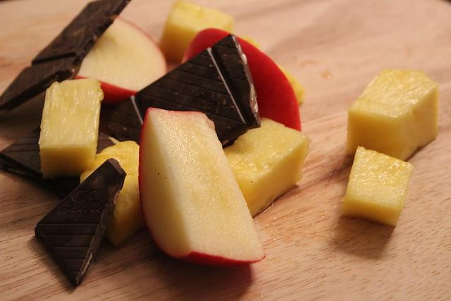 Dark Chocolate and Apples + Pineapple