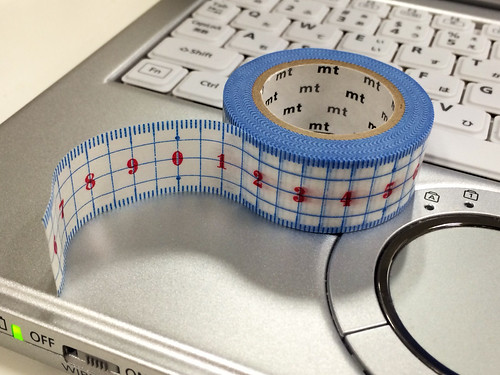 定規の柄のマスキングテープ