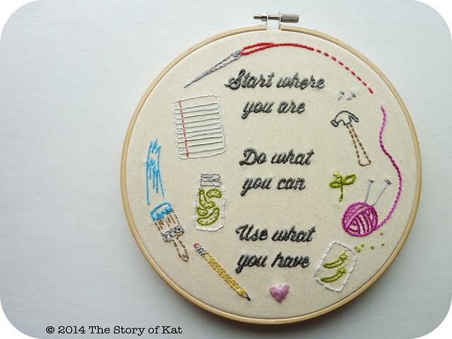 DIY Embroidery: The Word Series