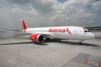 Avianca B787-8 N780AV bienvenida (Avianca)