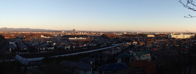 Hachioji City from Doryosan