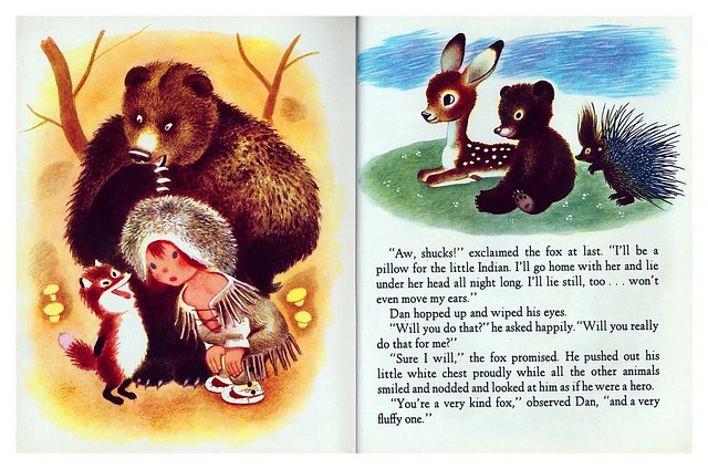 004-The Little Trapper- Illustrated Gustaf Tenggren- Copyright 1950- via goldengems.blogspot