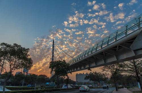 sunset hsinchu 日落 新竹 斜張橋 竹北 zhubei