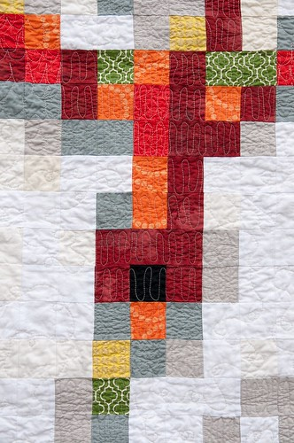 Pixelated Dragon Quilt