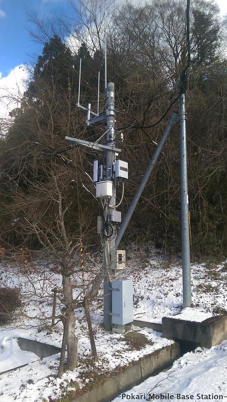 福島県郡山市中田町にあるWiMAX2+基地局を見に行きました
