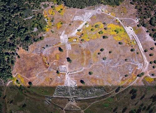 Fotografía aérea de San Cibrán de Lás (Google Earth)