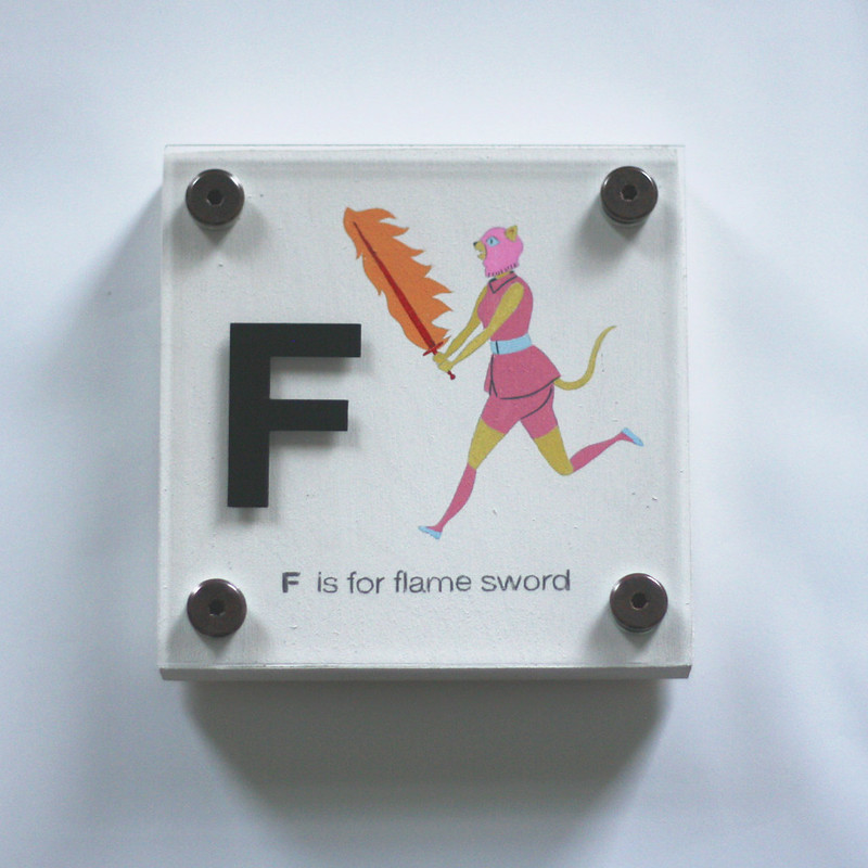 F IS FOR FLAME SWORD