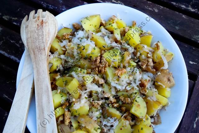 Salade de pommes de terre et radis noir / Potato and Black Radish Salad