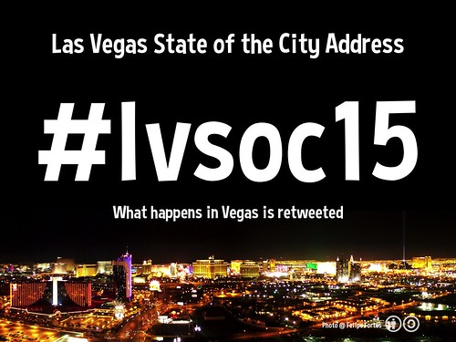 January 8, 5pm Pacific: Las Vegas State of the City Address: What happens in Las Vegas is retweeted #lvsoc15 @CityOfLasVegas