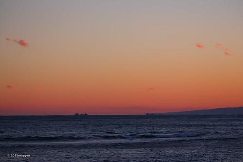 ocean pink sunset sea sky orange seascape color beach japan canon twilight wave 日本 冬 海岸 海 空 fukushima iwaki 夕焼け eveningglow 夕方 2015 福島 福島県 いわき市 eos5dmarkⅲ eos5dmark3 ef100400mmf4556lisⅱusm