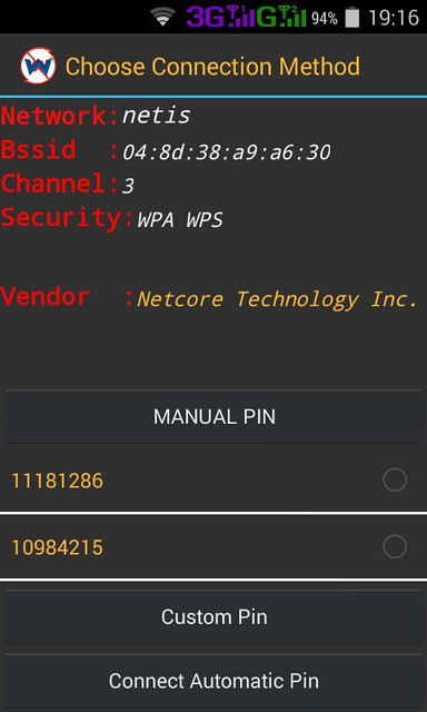 Click on Connect Automatic Pin