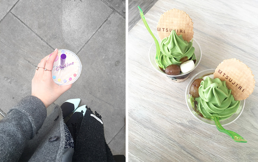 BUBBLE TEA AND ICE CREAM