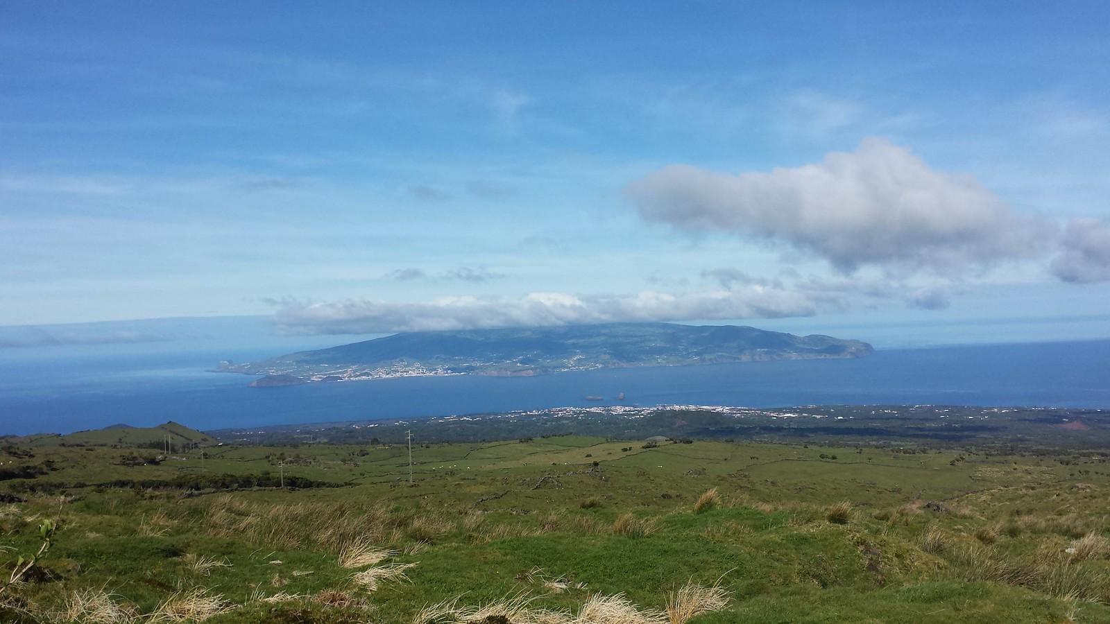 Towards Faial Island